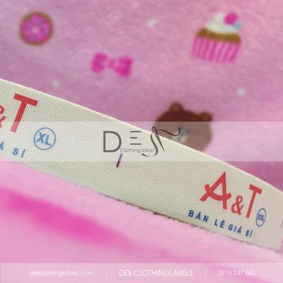 Nhãn in cotton thời trang trẻ em A&T