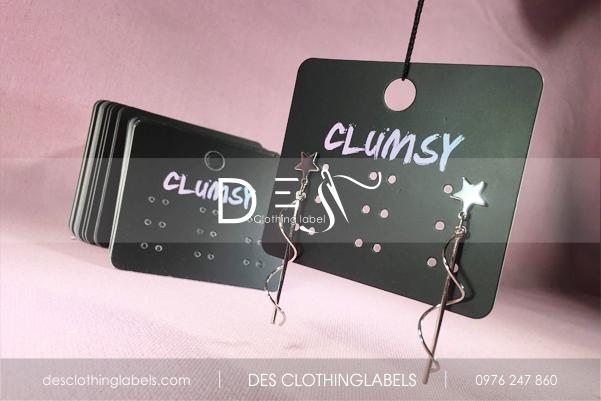 Thẻ treo bế dùng gắn hoa tai, accessories Shop Clumsy Sài Gòn