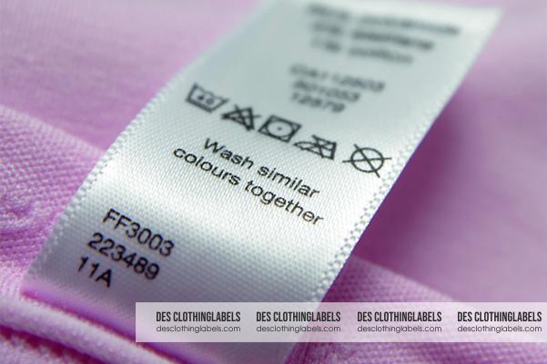 Des ClothingLabels là xưởng in satin, mác thành phần gắn may quần áo theo yêu cầu