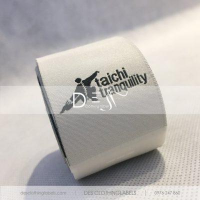 Nhãn mác dệt thời trang Taichi Tranquility