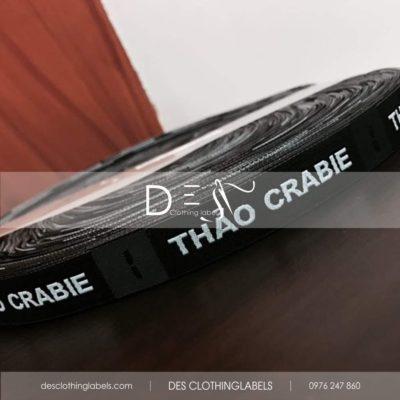 Nhãn dệt 2 da Thảo Crabie Đà Nẵng