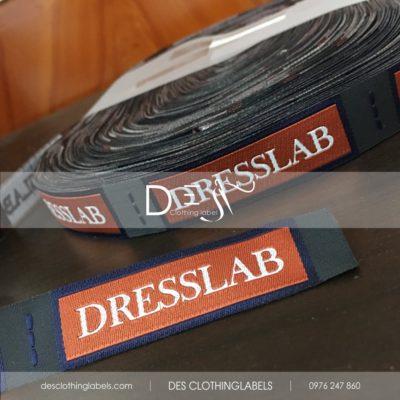Nhãn dệt 2 da Dresslab Fashion