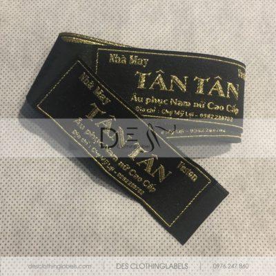Nhãn dệt chỉ kim tuyến nhà may Tân Tân