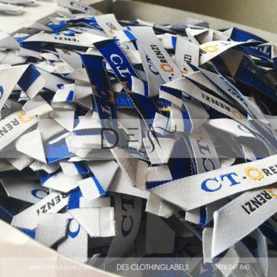 Nhãn dệt xếp xéo may quần áo CT-Orenzi