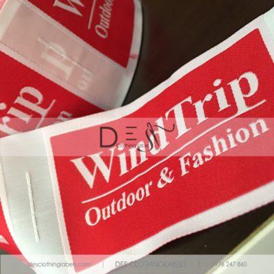 Nhãn dệt 2 da Thời trang Phượt WindTrip