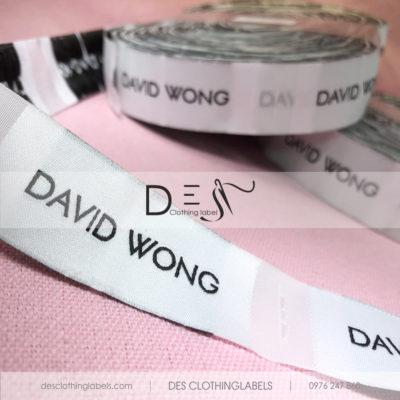 Nhãn dệt cao cấp David Wong Quận 1